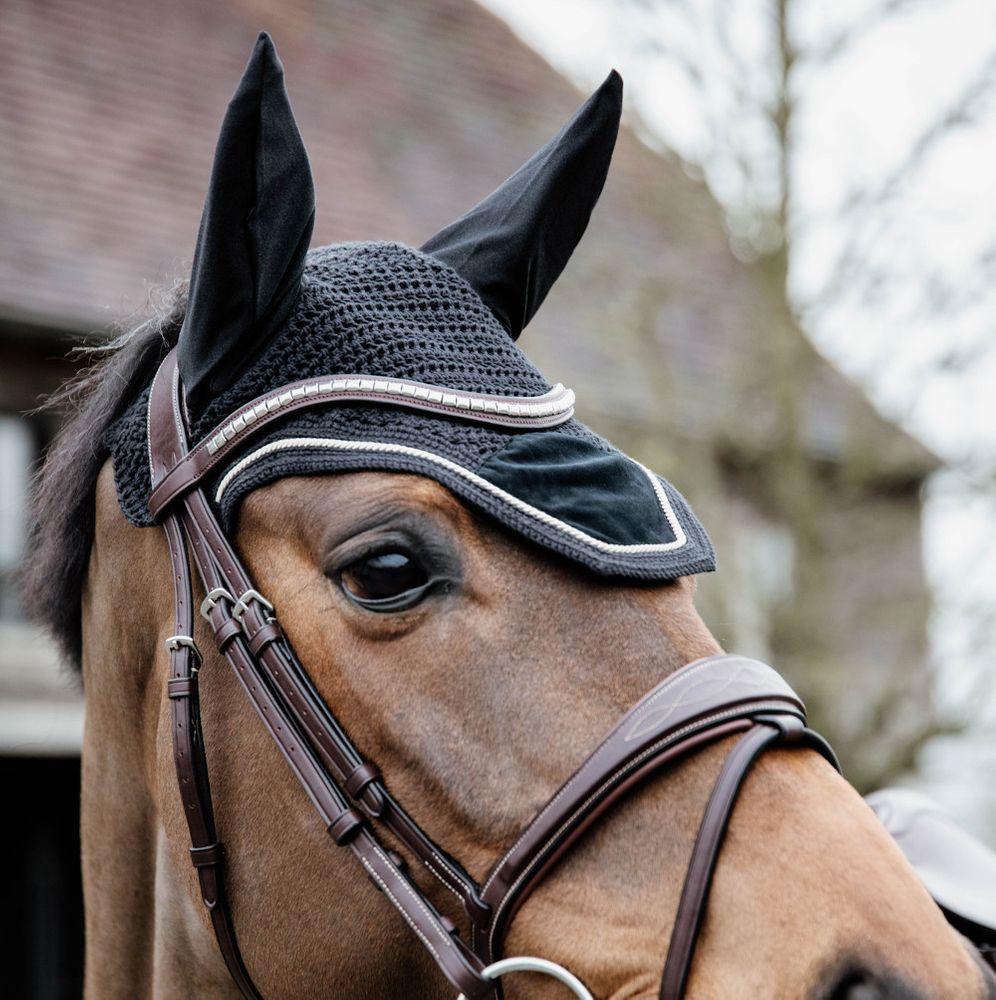 Kentucky Horsewear Fliegenmütze Wellington Basic Velvet - schwarz